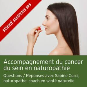 Accompagnement du cancer du sein en naturopathie